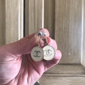 Chanel vintage enamel earrings